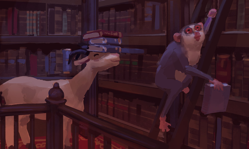 Devin platts slender librarian