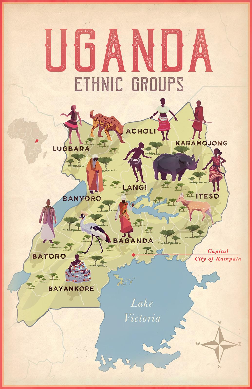 Uganda Ethnic Map
