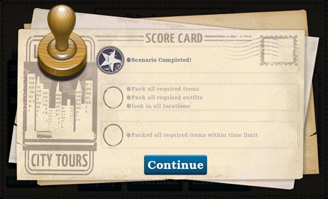 End Game, Score Screen