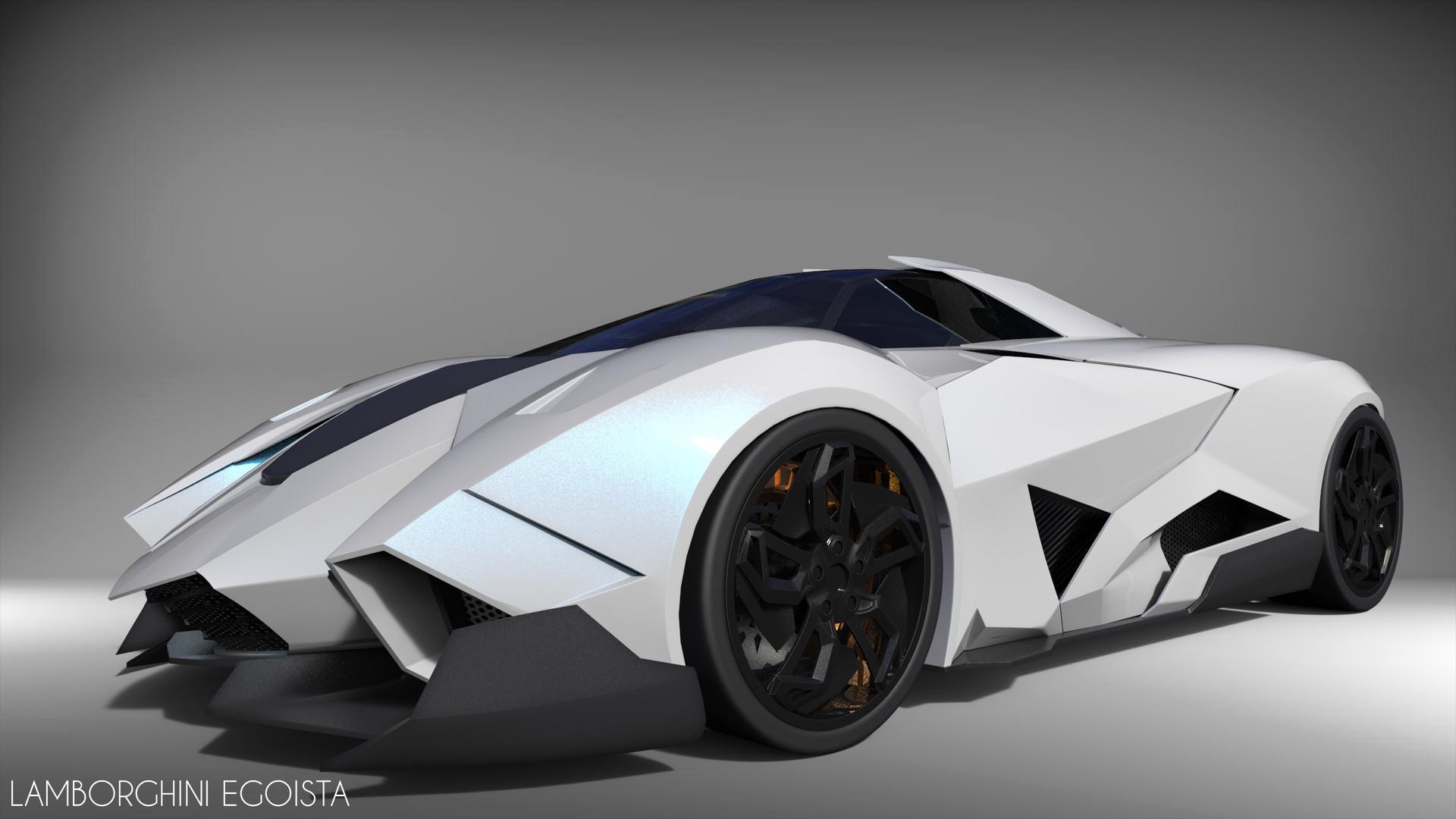 Artstation Lamborghini Egoista 3d Modeling Ha Tran