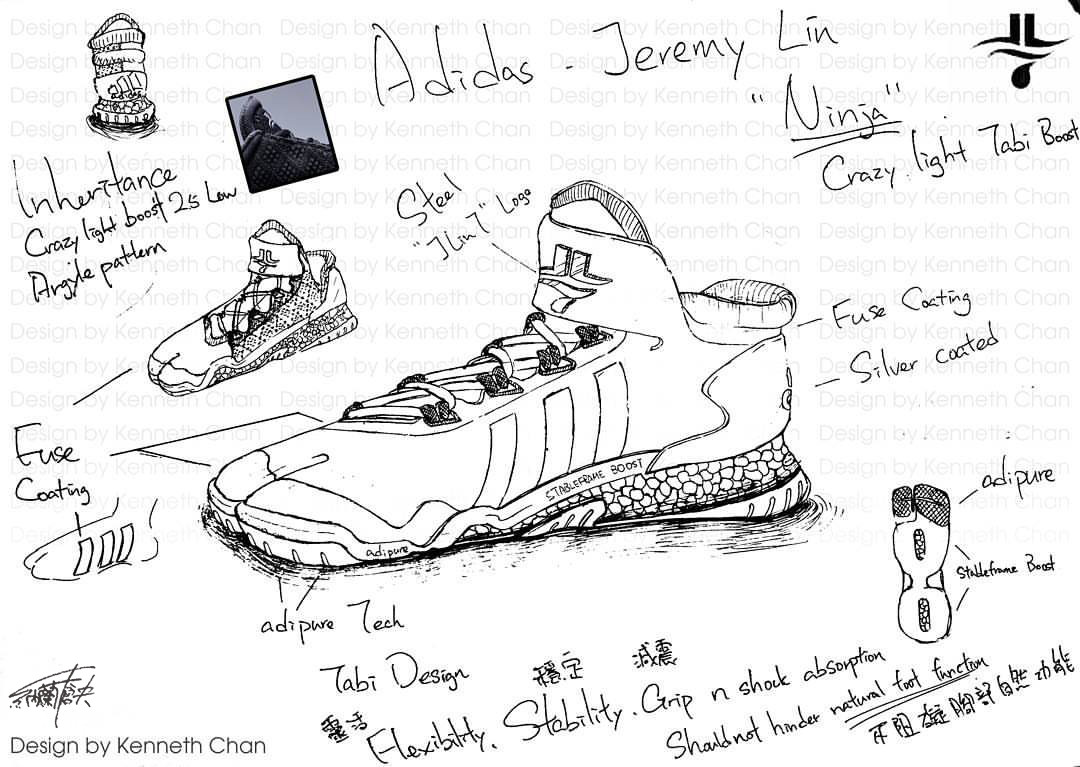 "【 Concept Art : Adidas x Jeremy Lin ""Ninja"" - Crazy Light Low Tabi Shoe】"