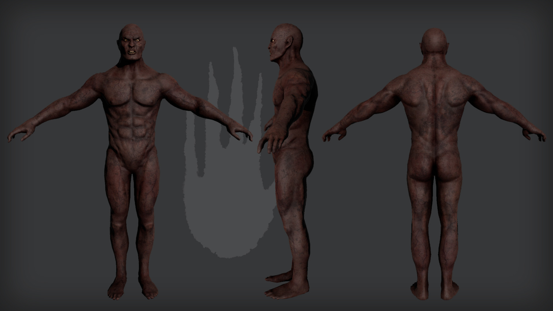 Naked body rendered in 3DO