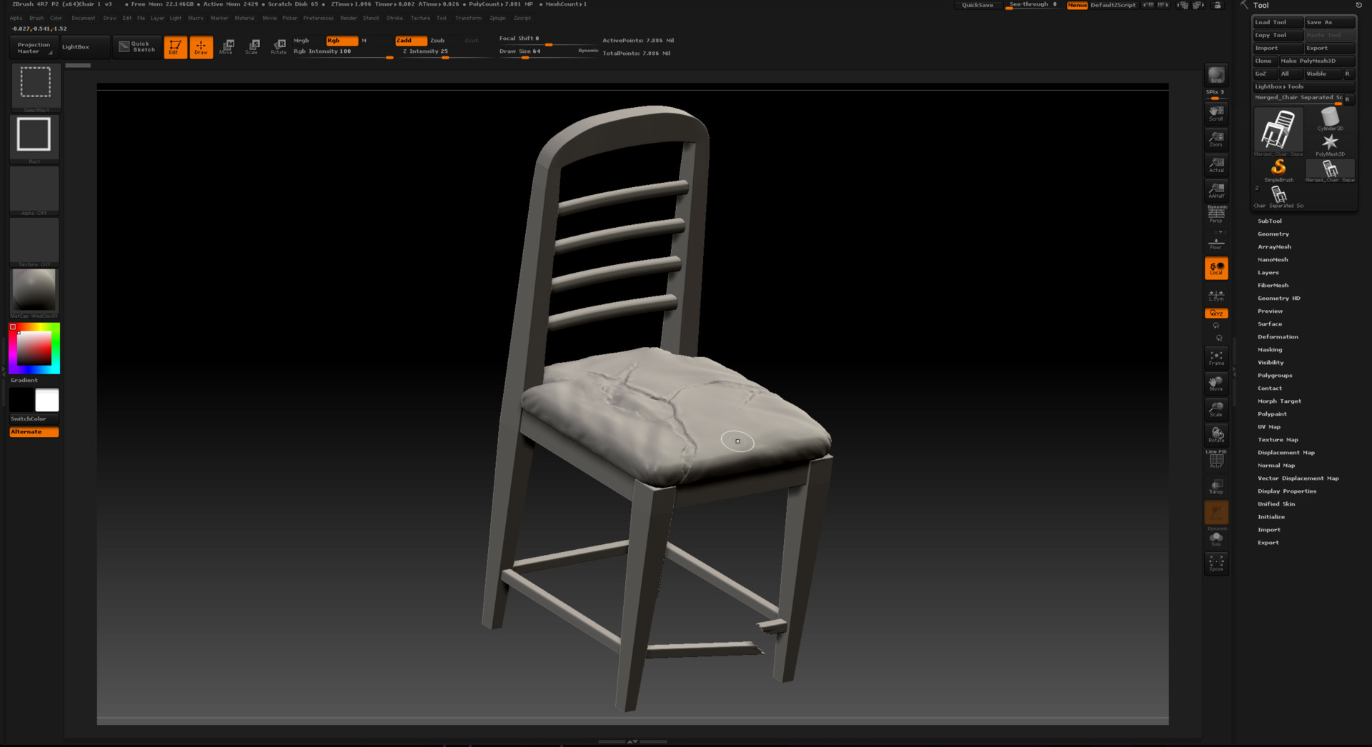 Brett marshall tucker zbrush chair