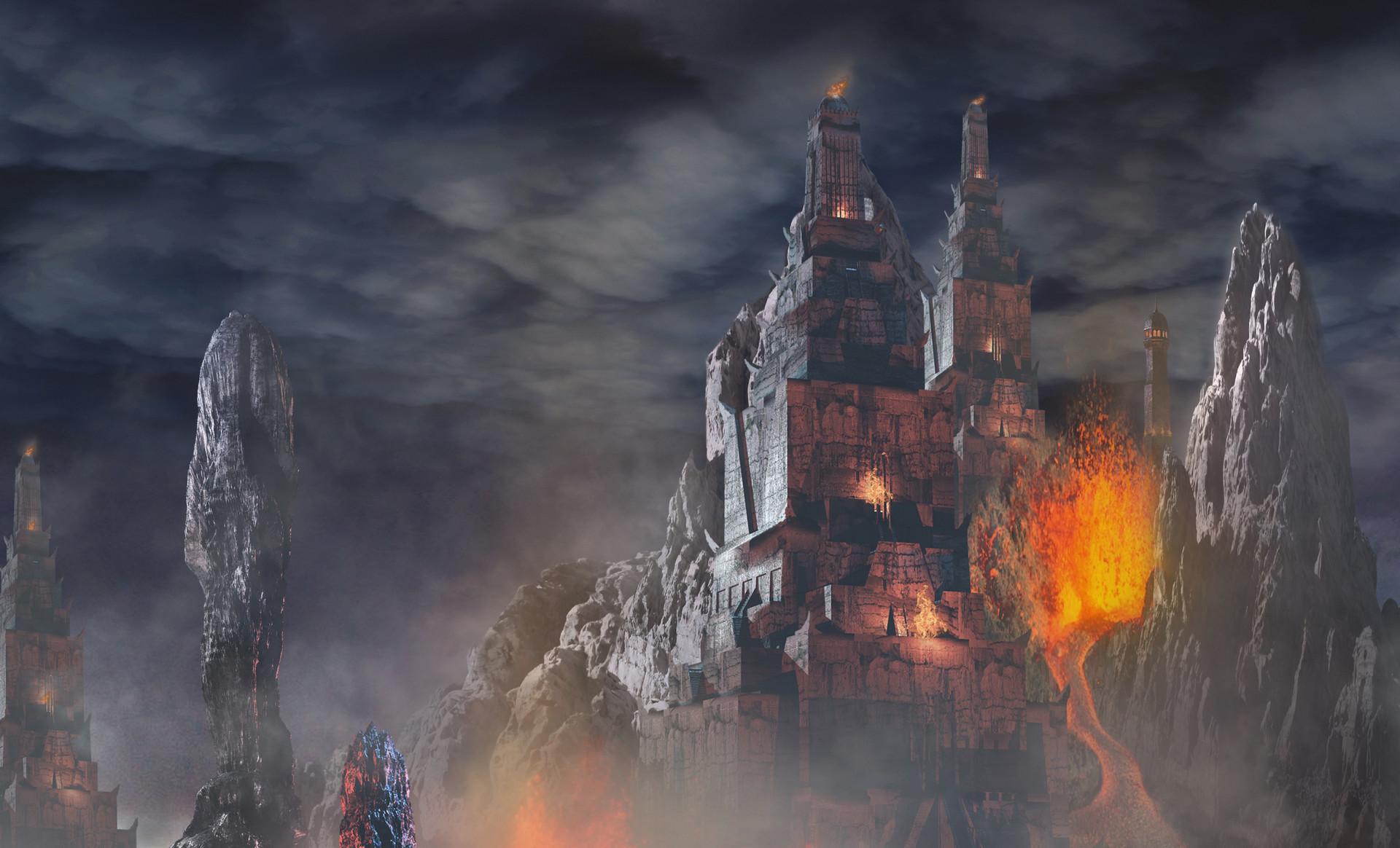 Scott richard volcanic temple by scott richard detail 2