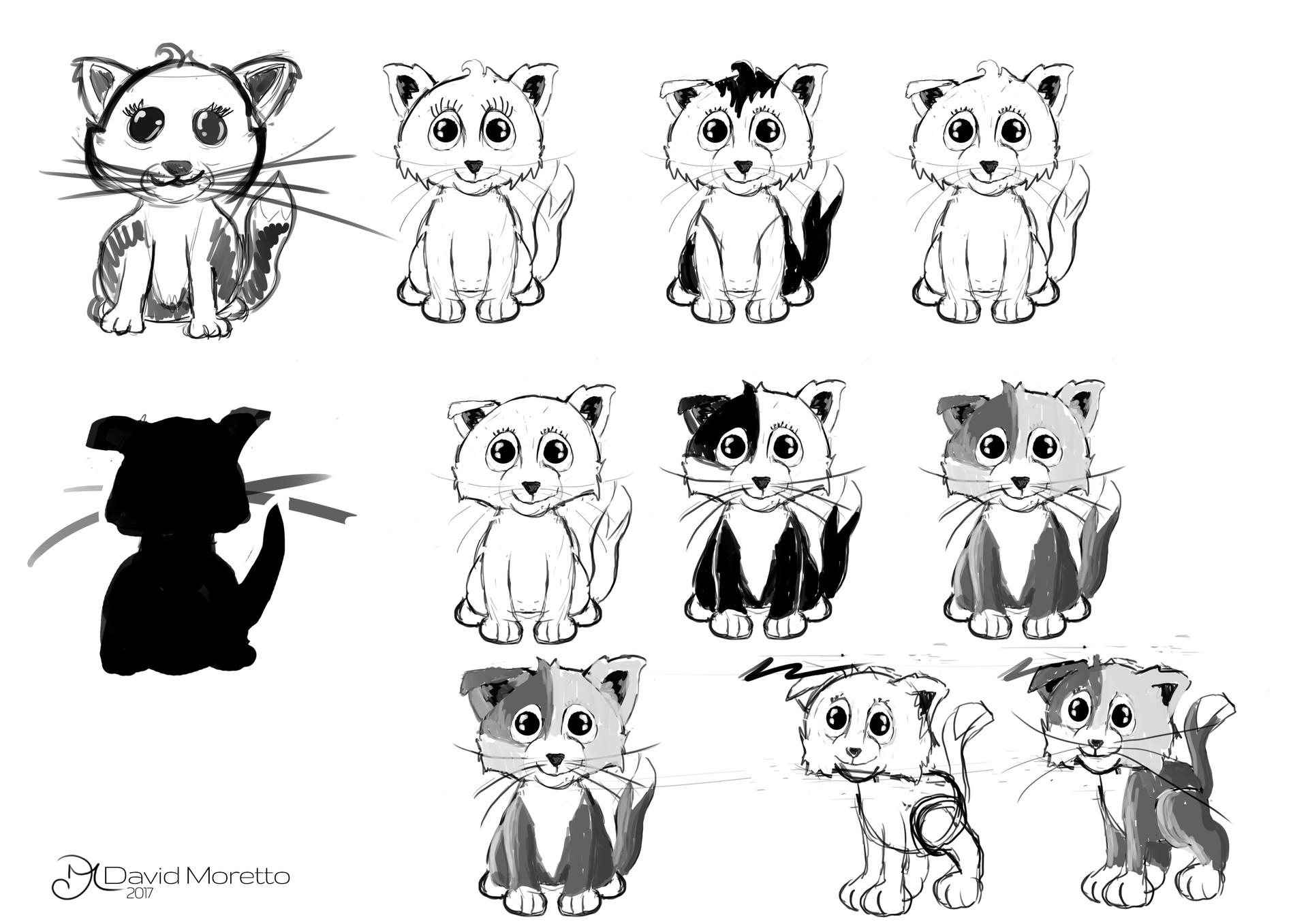 David moretto cat sketch