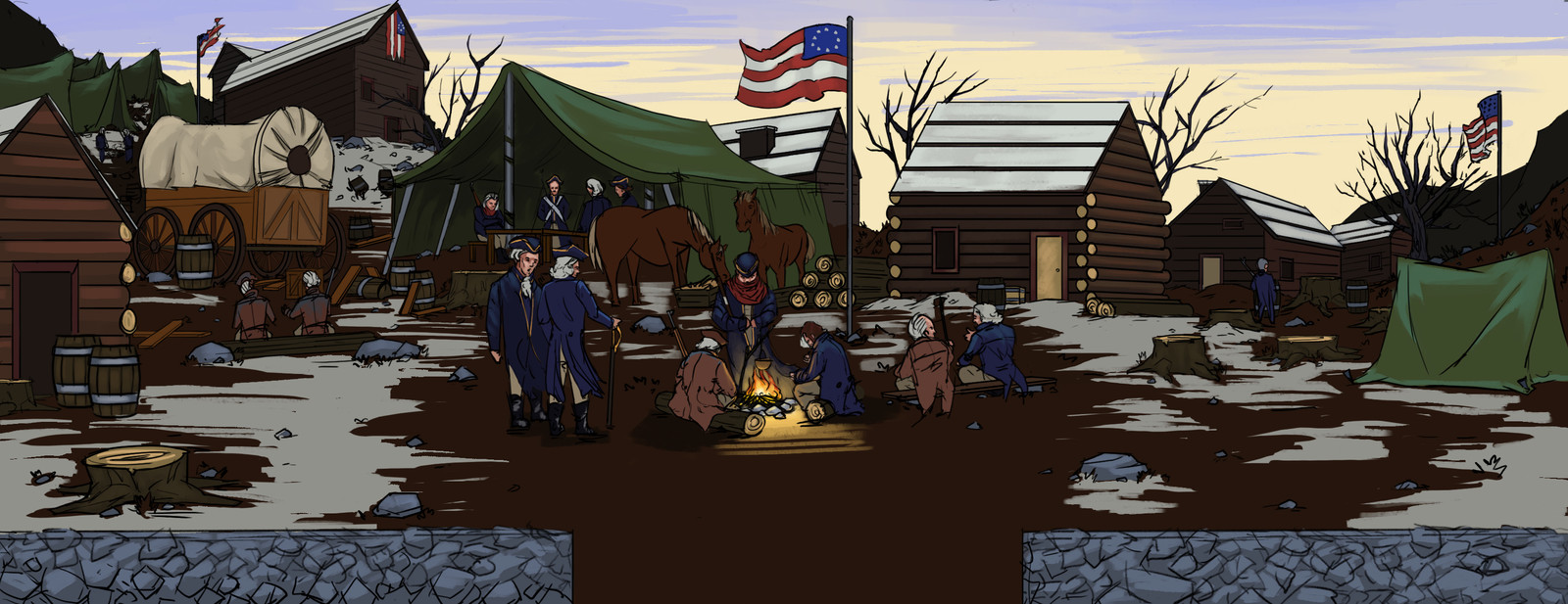 Valley Forge Background Concept