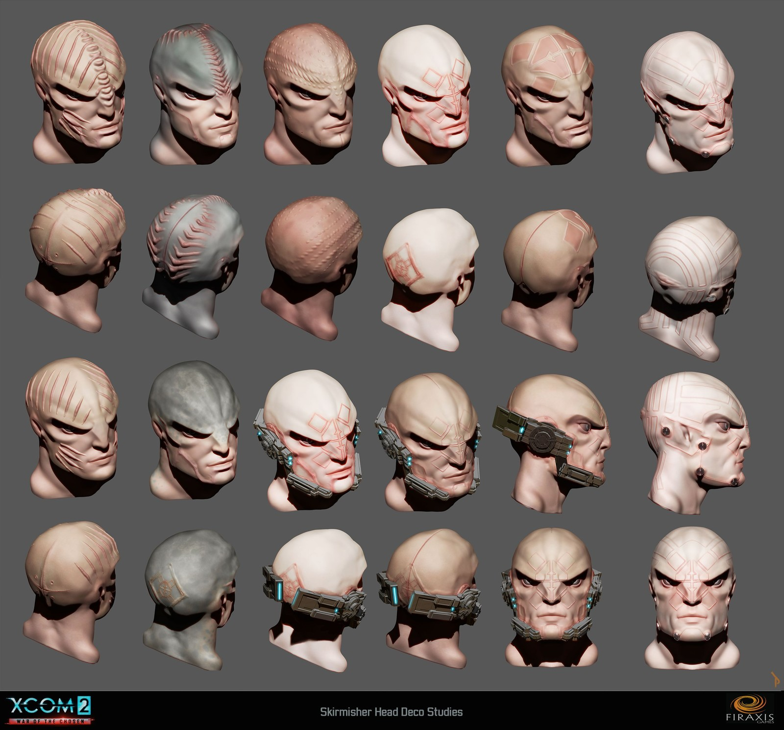 Skirmisher head deco variations