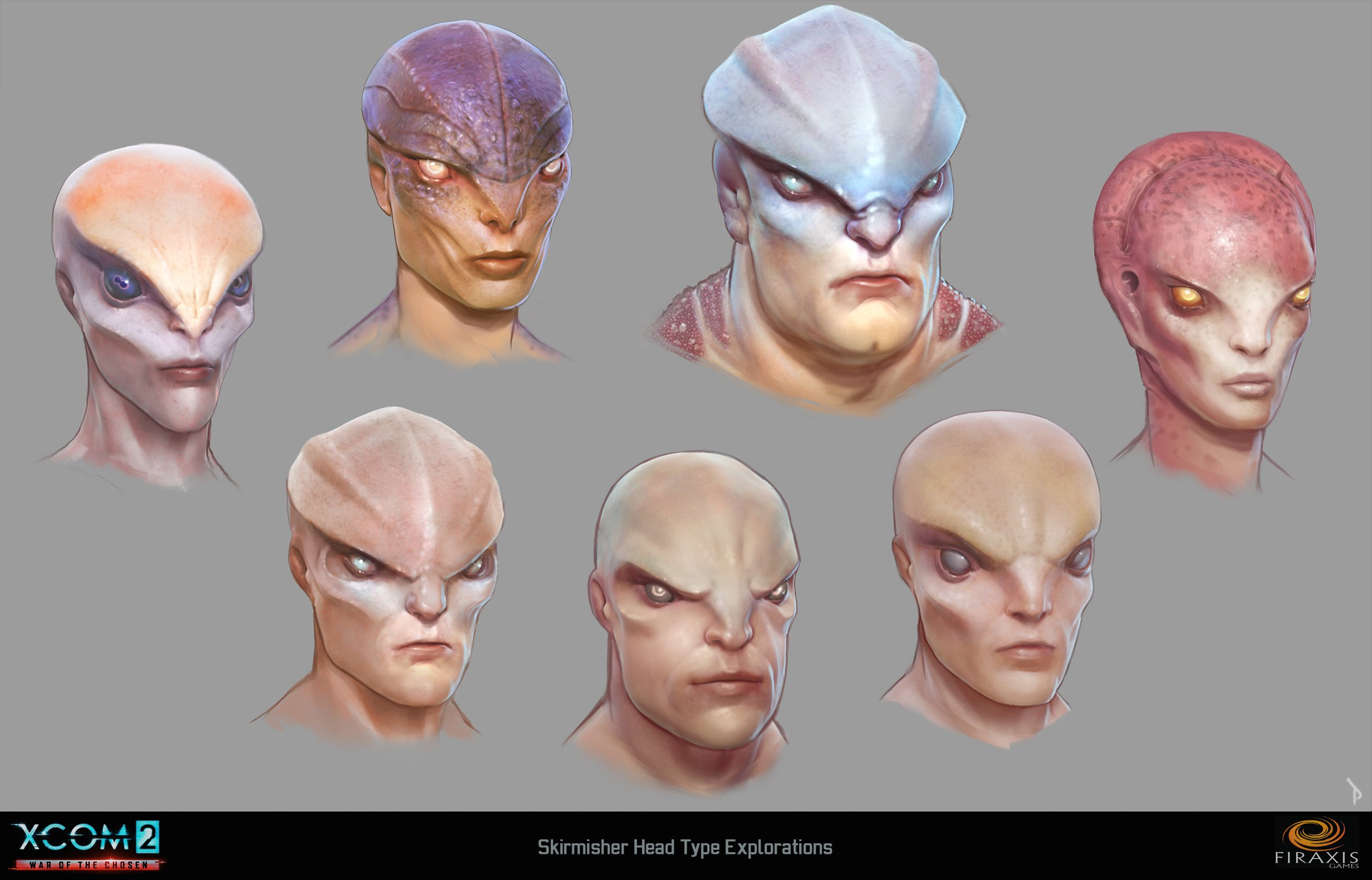 Skirmisher head type studies