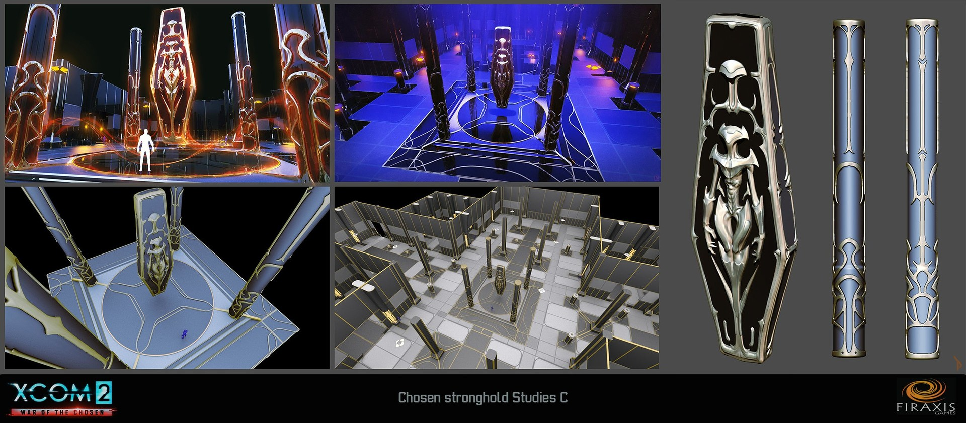 Initial Chosen Stronghold 3D conceptualization