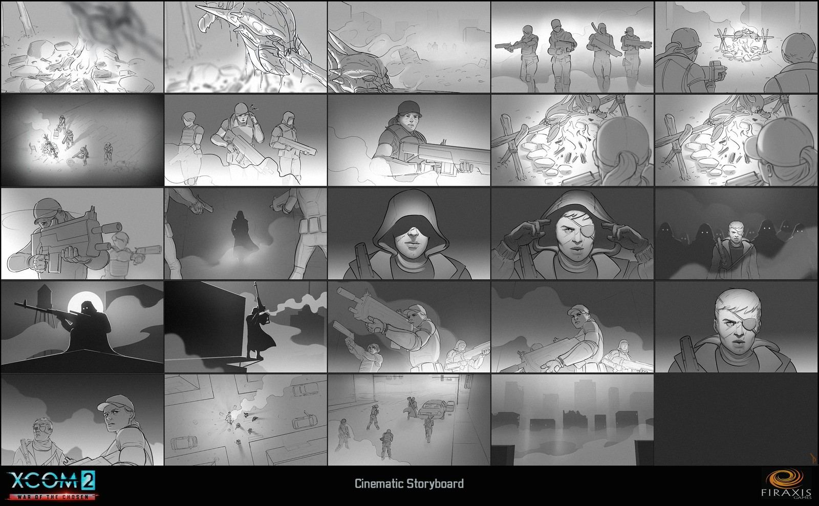 XCOM 2: WOTC Cinematic Storyboard (tone)