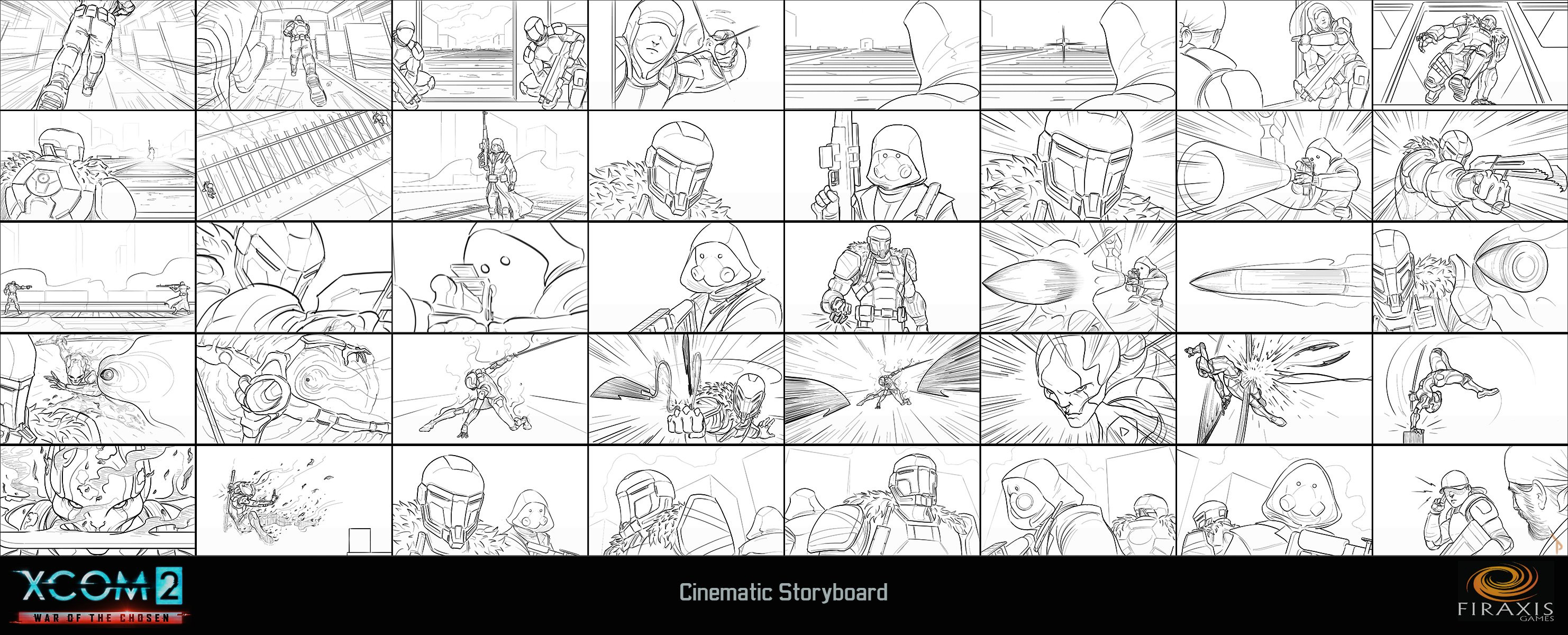 XCOM 2: WOTC Cinematic Storyboard (line)