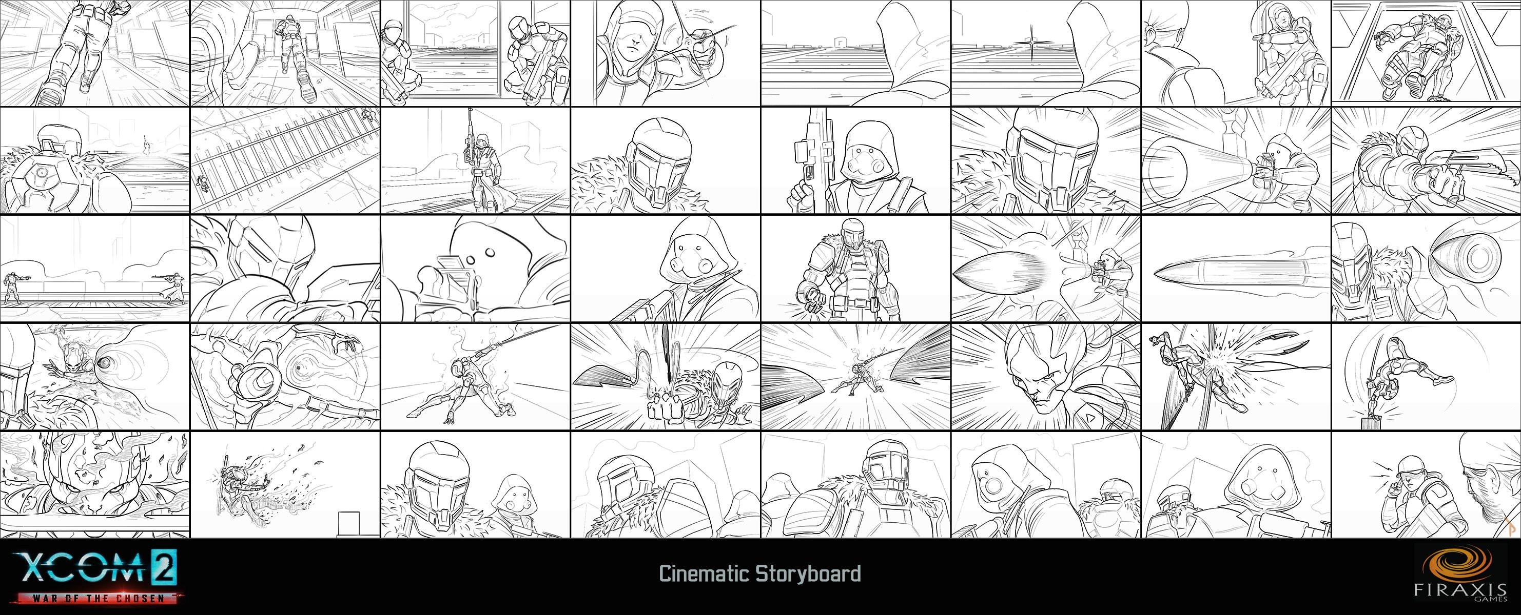 XCOM 2: WOTC Cinematic Storyboard (line)