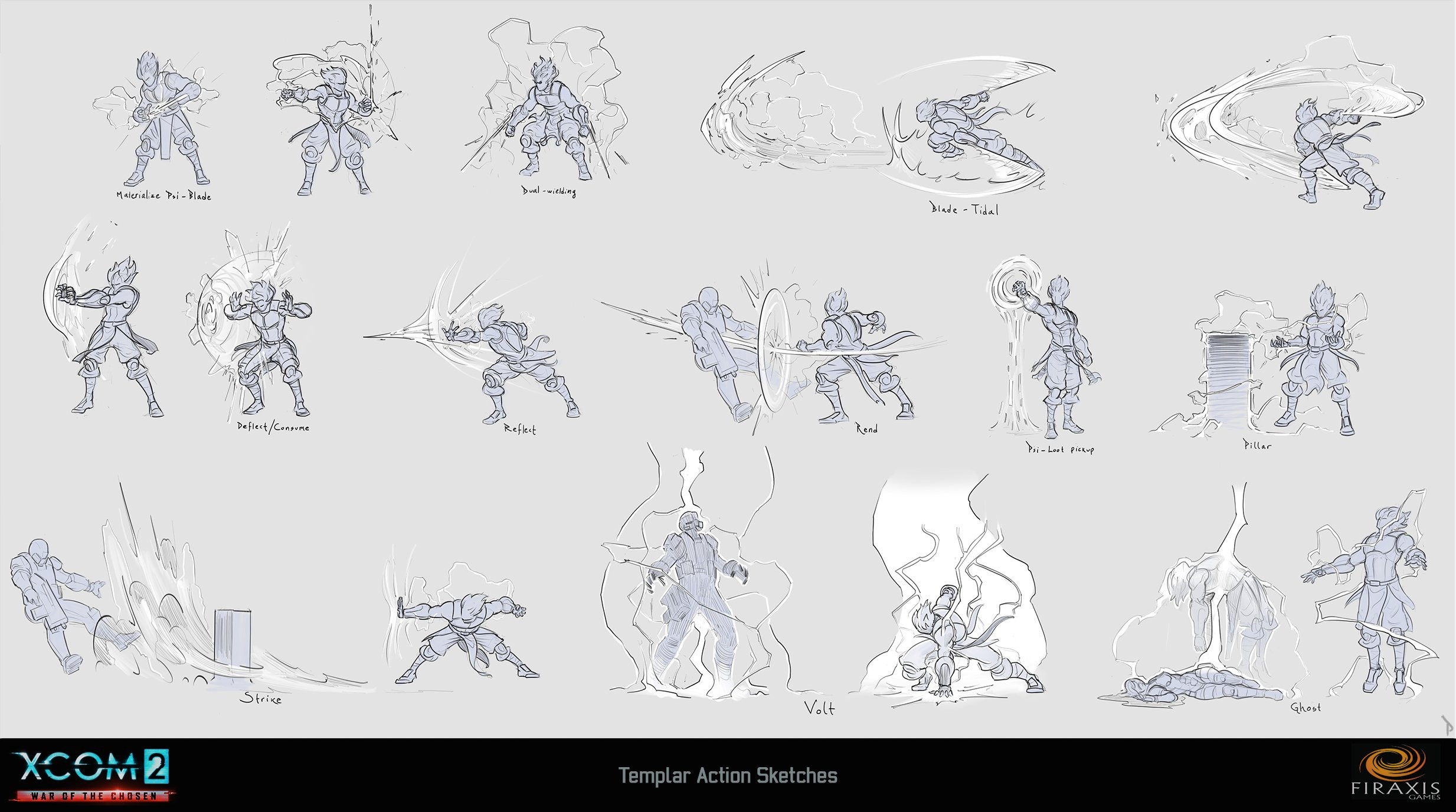 Templar faction animation sheet