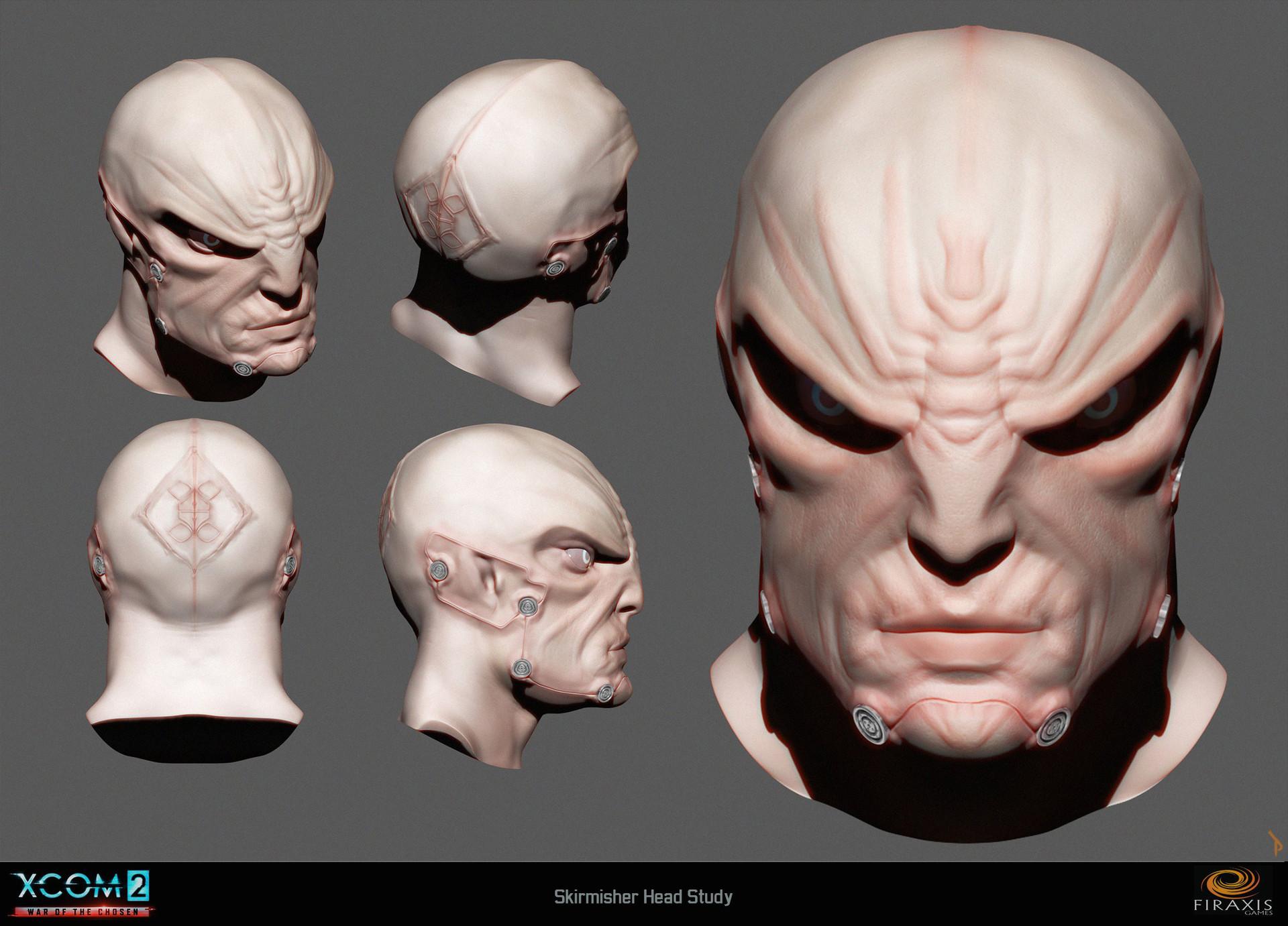 Skirmisher head detail study