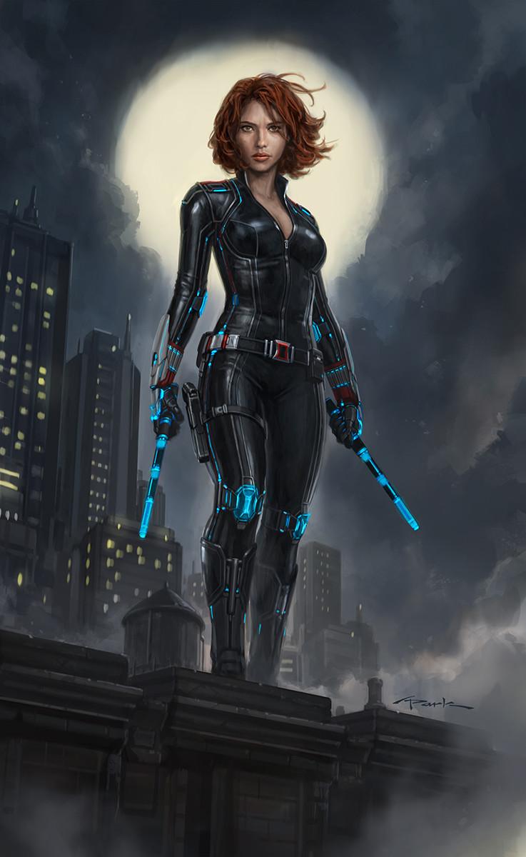 Black Widow Concept Art Iron Man