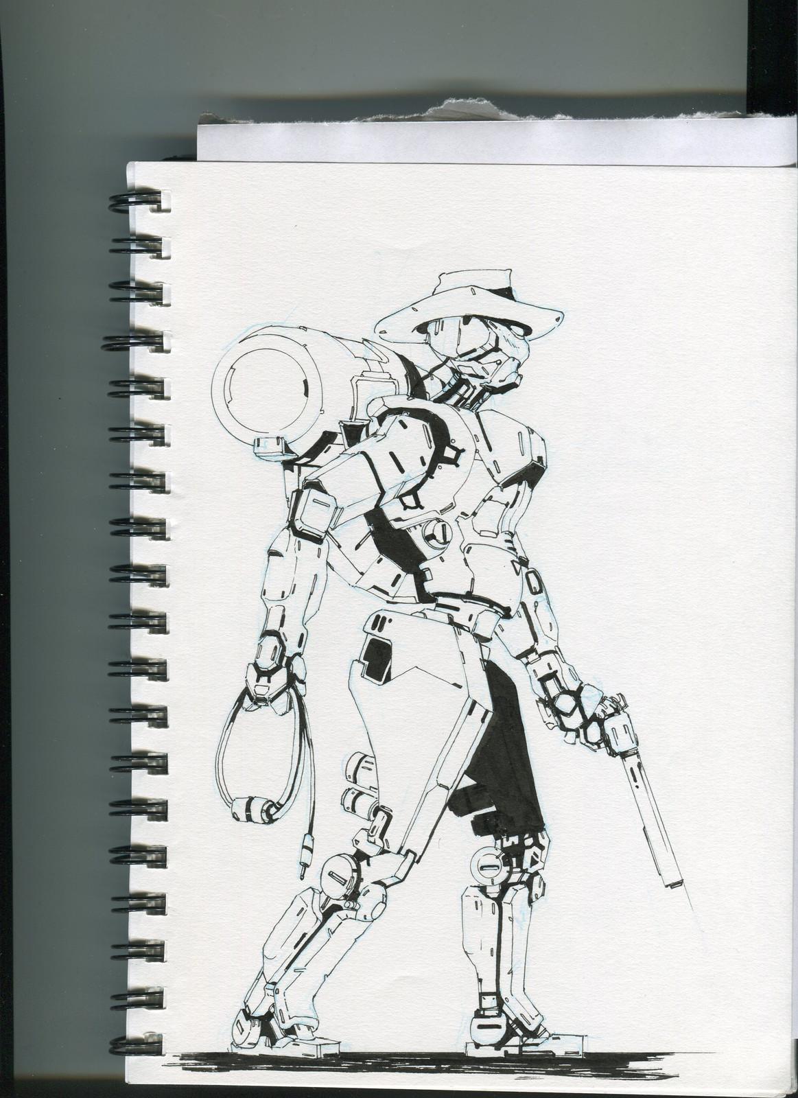 Robotic CowBoy Ink