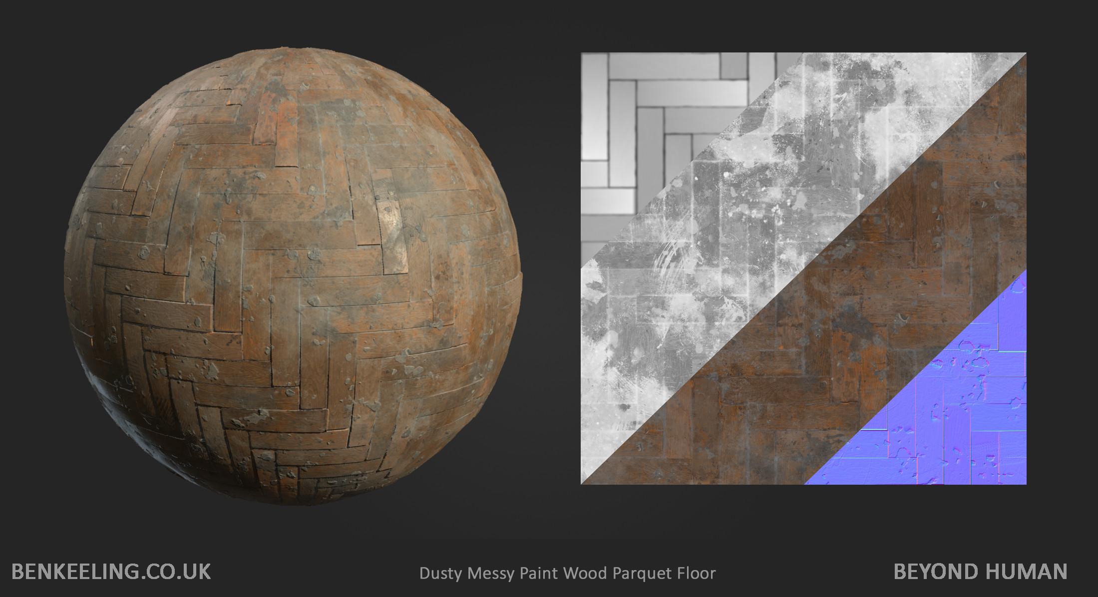Materials - Dusty Messy Parquet Floor