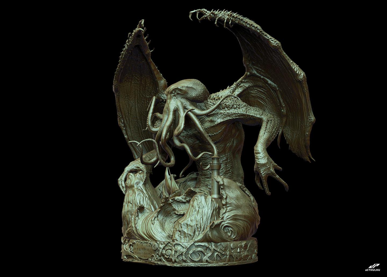 Dope pope zcthulhu bronze 1 27