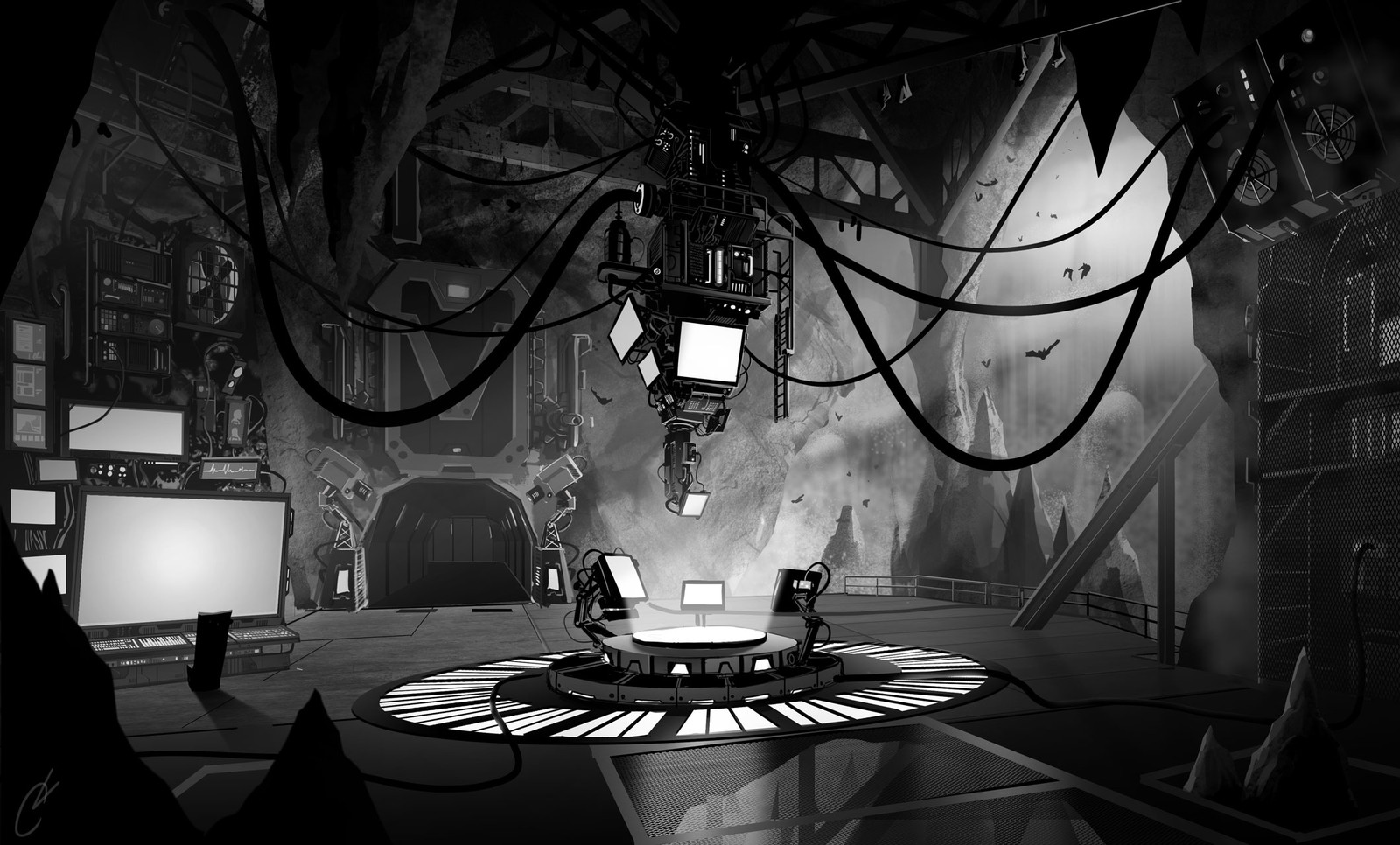 Underground Billionaire Detective Cave