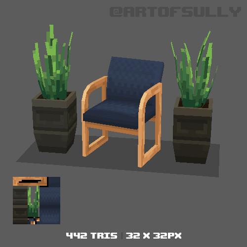 3D Pixel-Art Waiting Room (Commission)