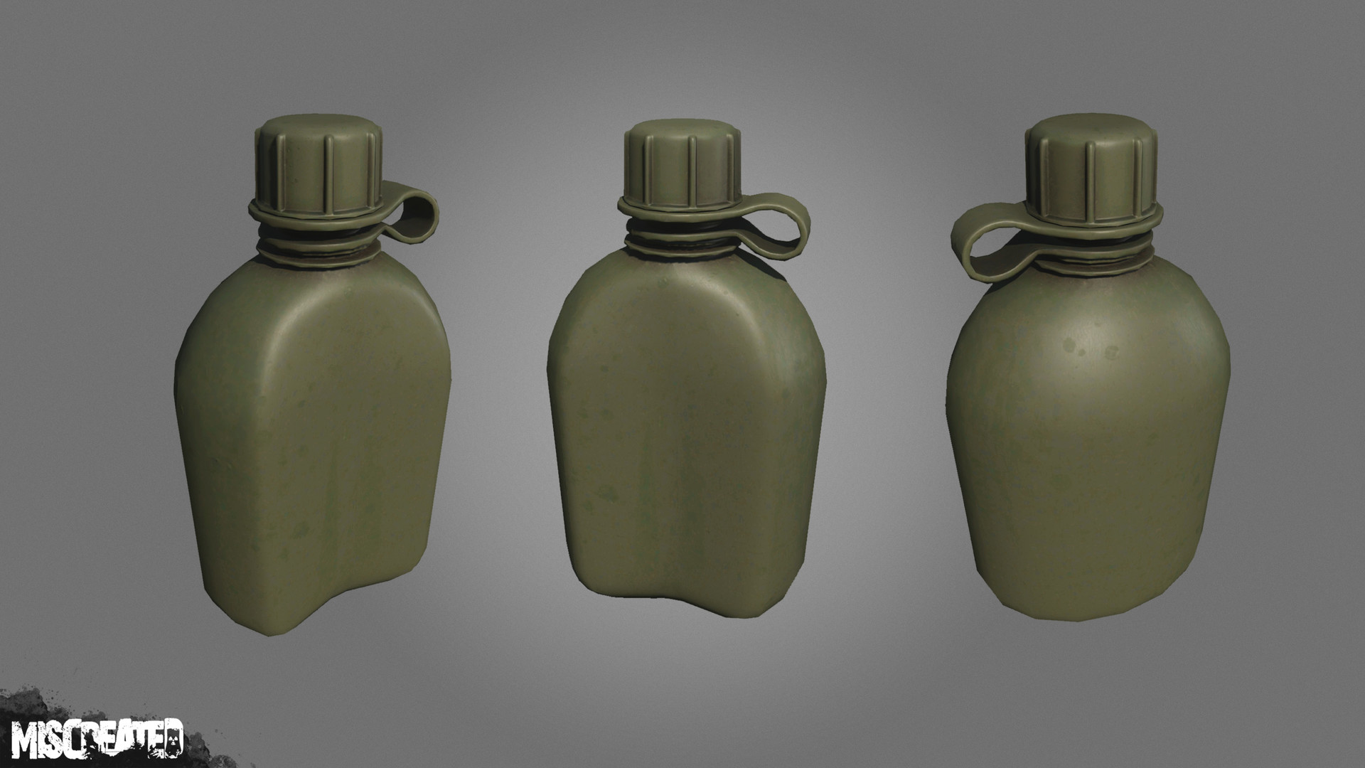 Military Canteen (Plastic), used for carrying water