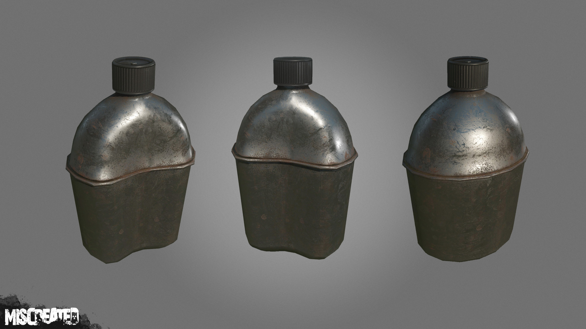 Military Canteen (Metal), used for carrying water