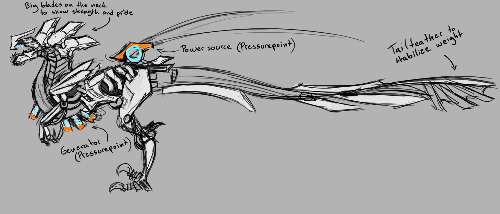 Rebecca froden velociraptor concept