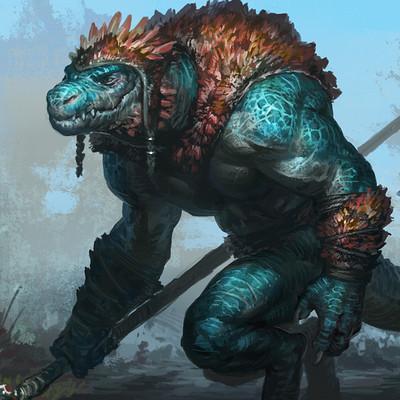 Taran fiddler blue reptile