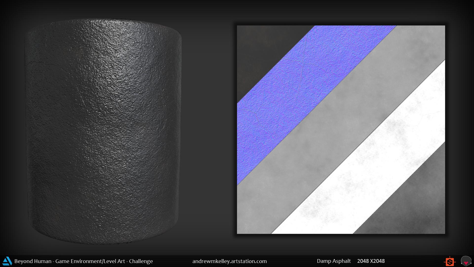 Andrew kelley materialshot dampasphalt
