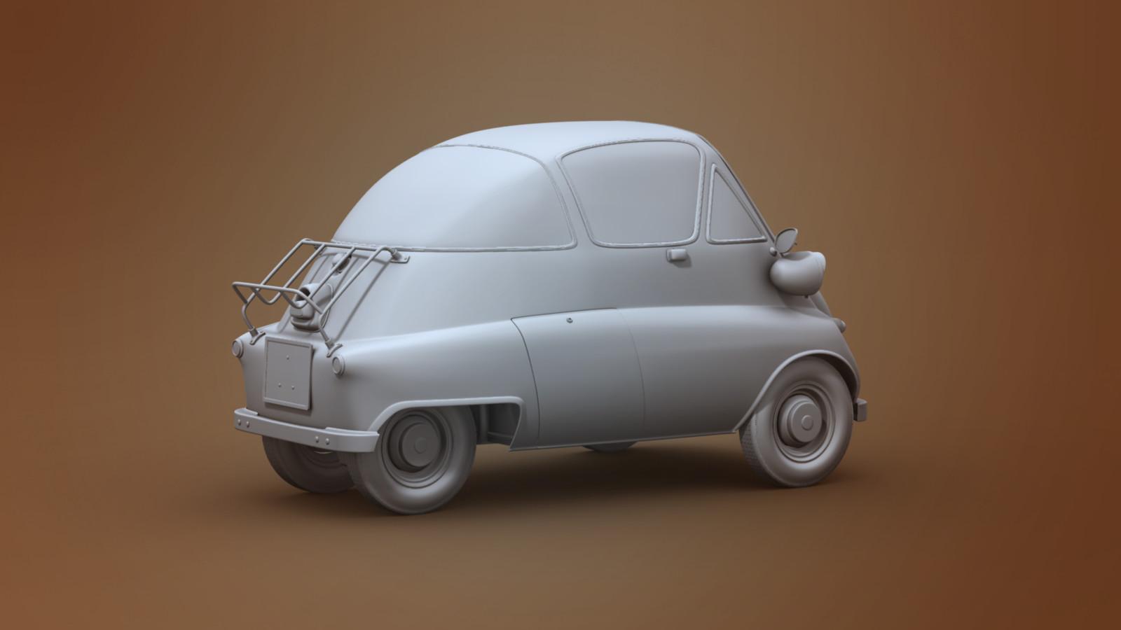ArtStation - The Original 1955 BMW Isetta 300, Richard Clark