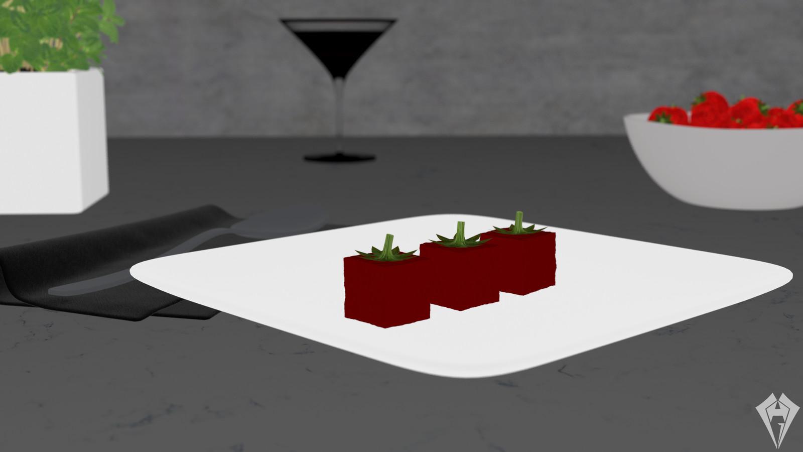 Molecular Strawberry Jelly Diffuse by Hugo Matilde
