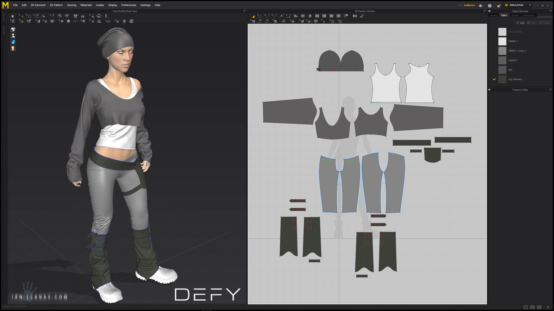 The Marvelous Designer Layout. I started creating the belt and decided at that point that i was getting diminishing returns and decided to switch to 2d techniques to finish off the concept.