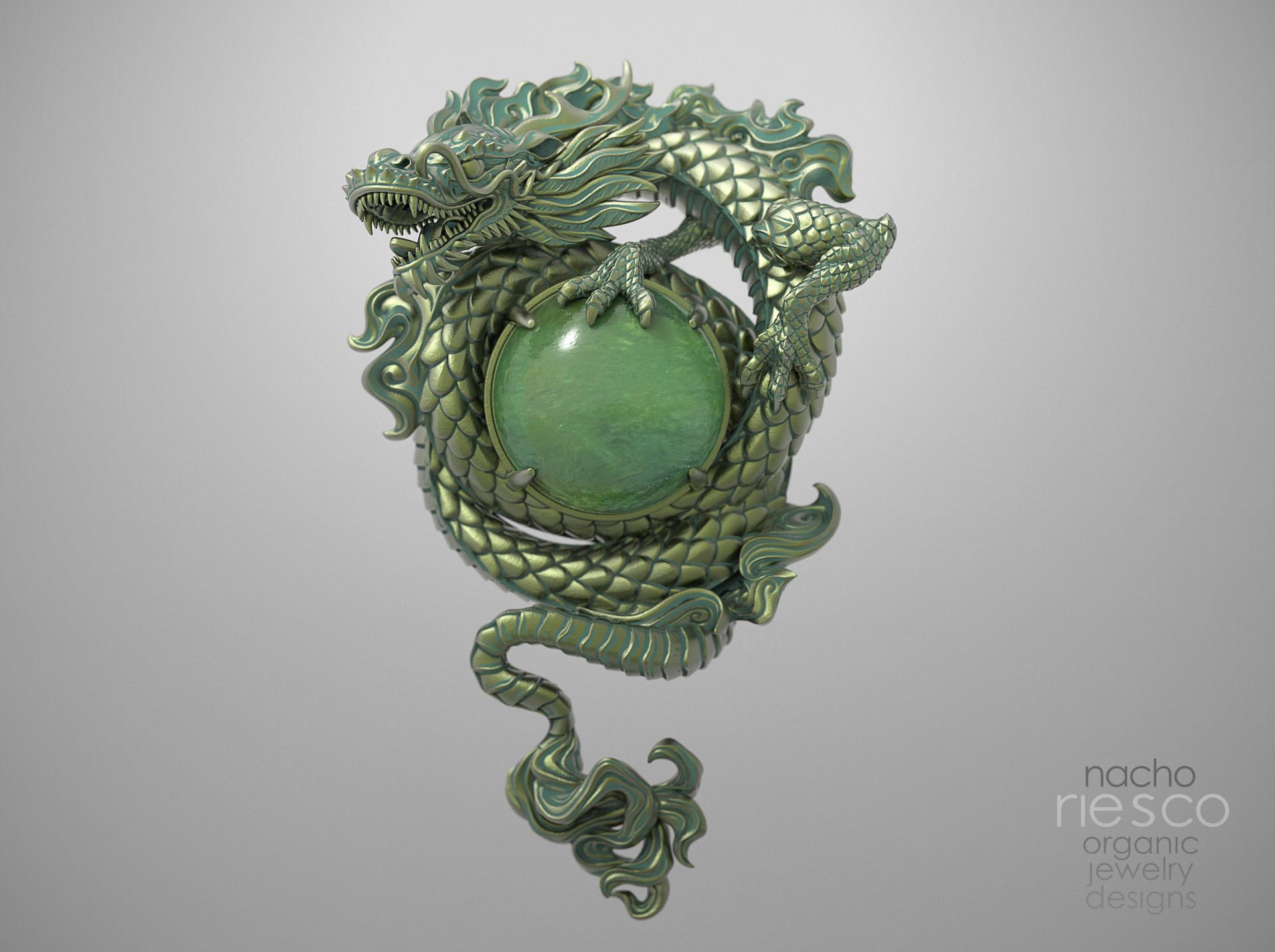 Nacho riesco gostanza colgante dragon y jade