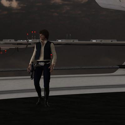 David roberson milleneum falcon landing px han 01 02