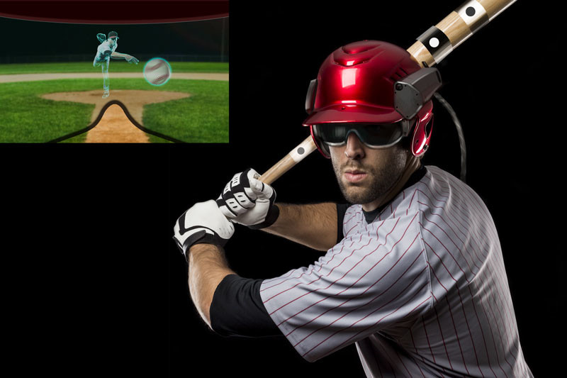 AR virtual batting trainer concept