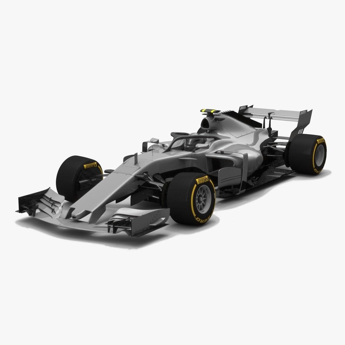 Formula 1 Concept Season 2018 3D Model