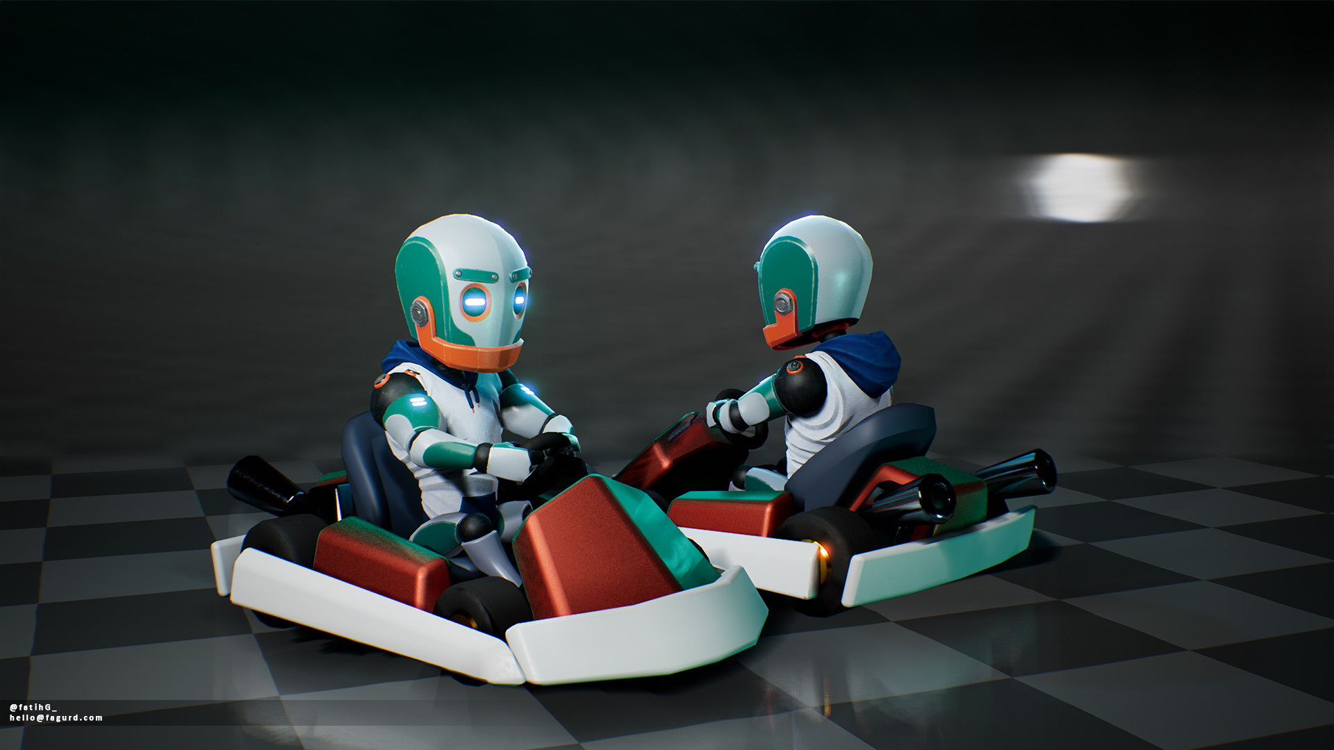 Character Model in prototype Kart