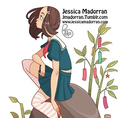 Jessica madorran japanese fashion 17 2017 artstation