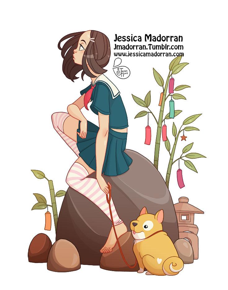 Jessica madorran japanese fashion 17 2017 artstation