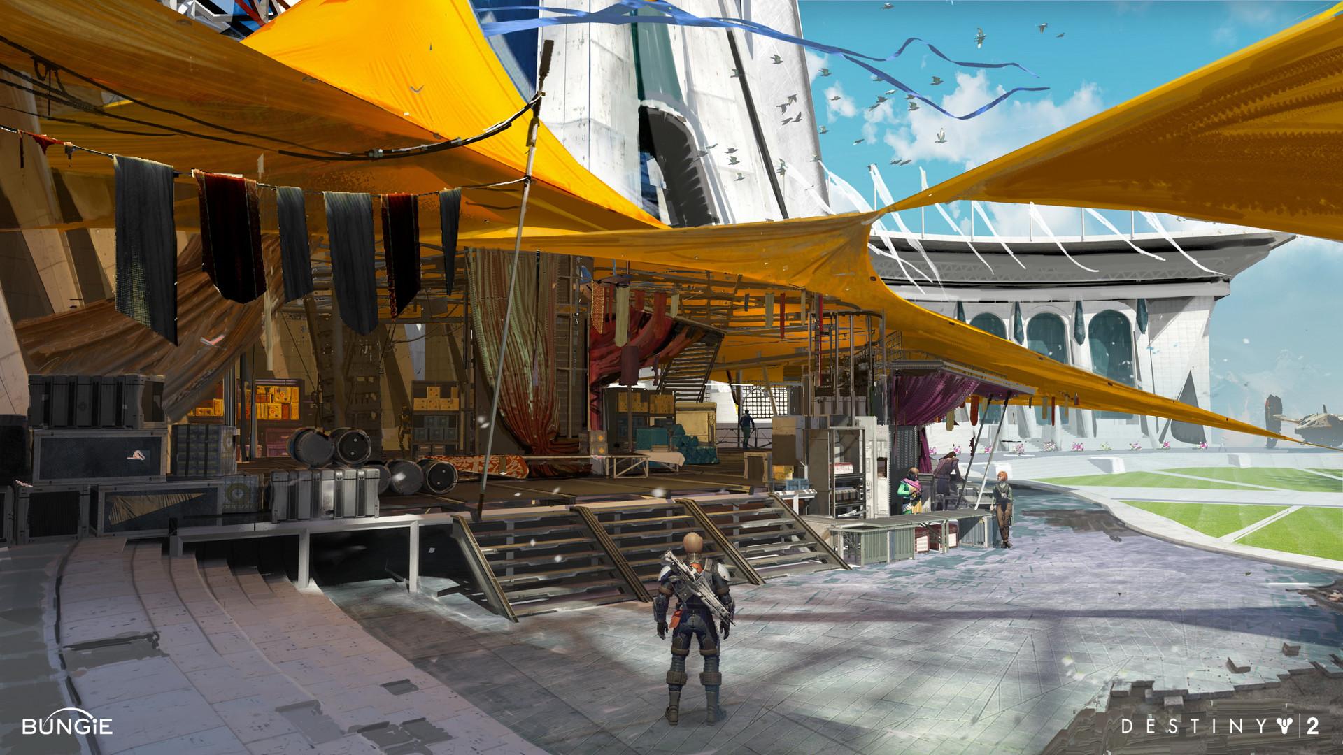 Artstation Destiny 2 Tower Exploration Dorje Bellbrook