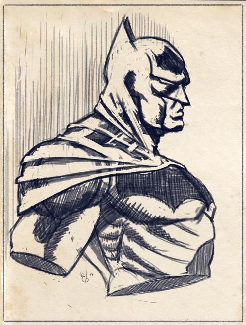 Elie bongrand 96 batman sketch vieilli