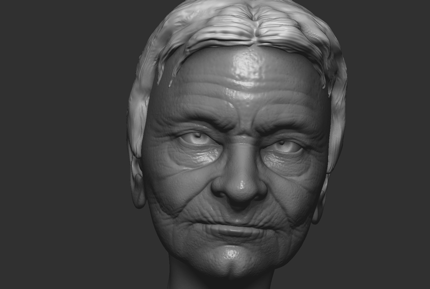 ZBrush sculpt...about 1.5 hours.