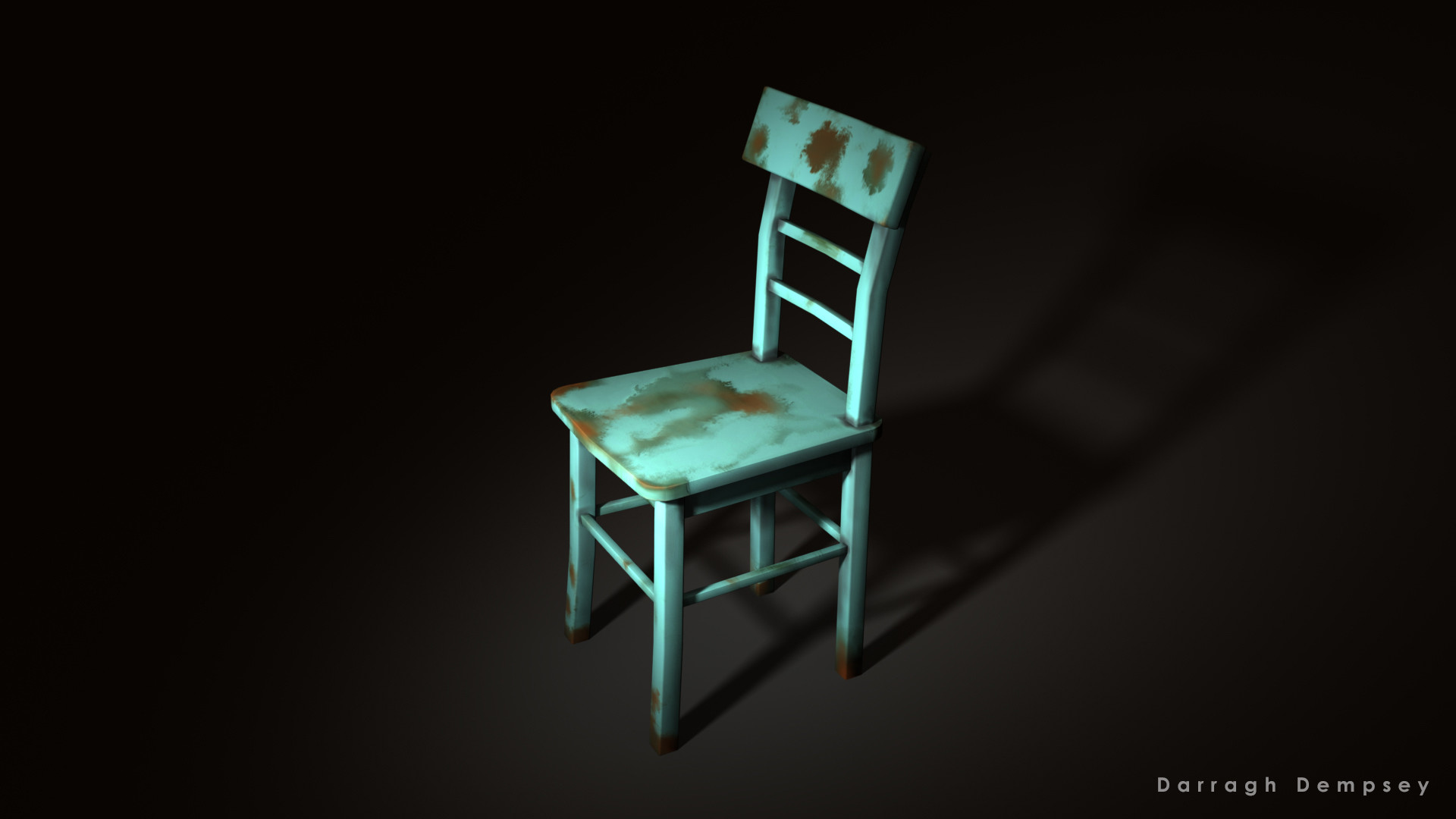 Dining Chair Asset (textured) low-poly.