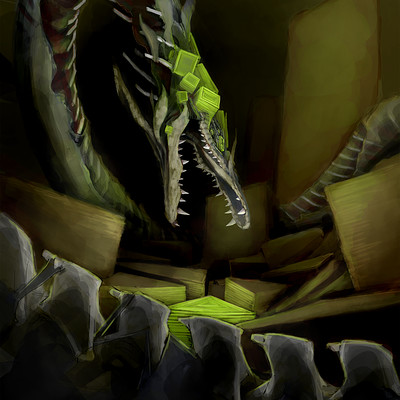 Dylan wignall desert dragon keypainting step8 bigger