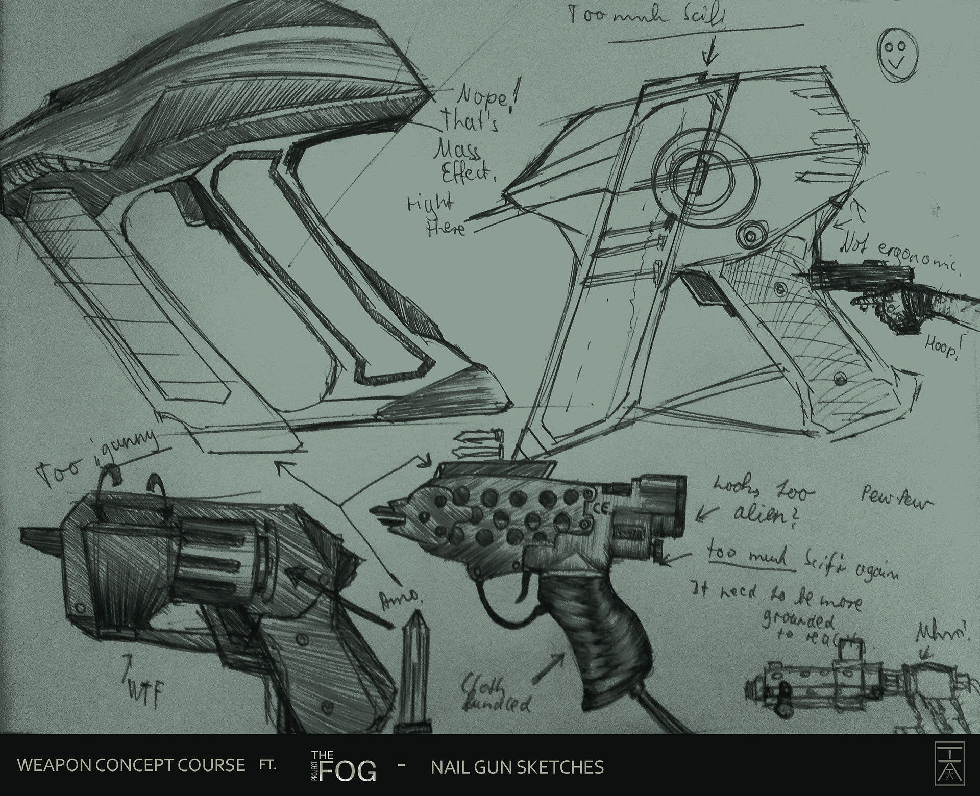 Artstation project fog nailgun concept art hermann kromer some sketches had certainly to do some more prinsesfo Image collections