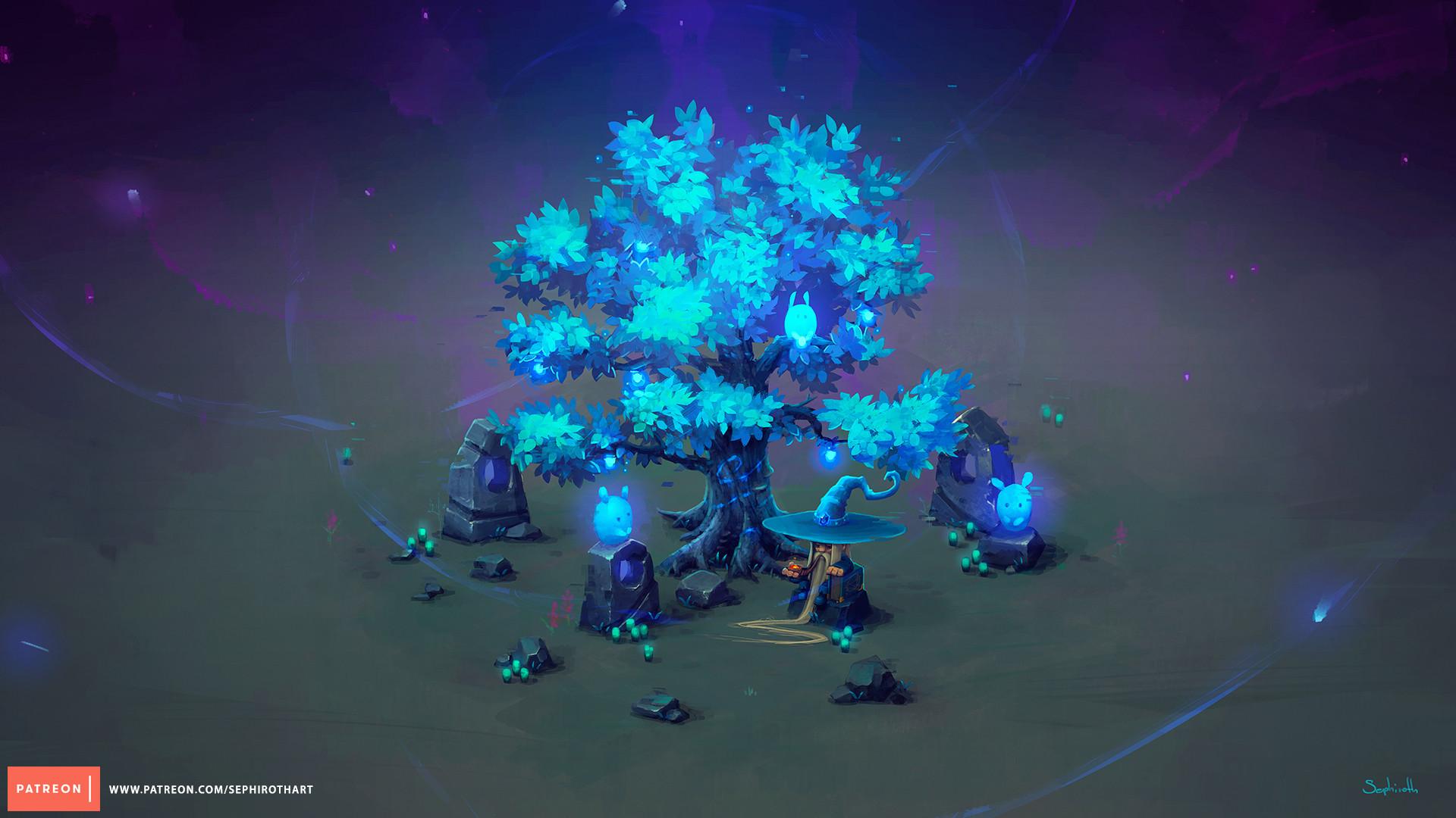 ArtStation - Isometric Mana Tree, Sephiroth Art