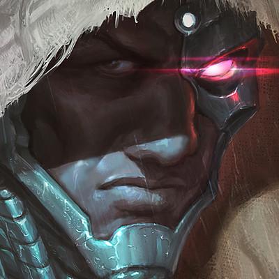 Mehmet ozen justice league dc comics cyborg mehmet ozen coverart