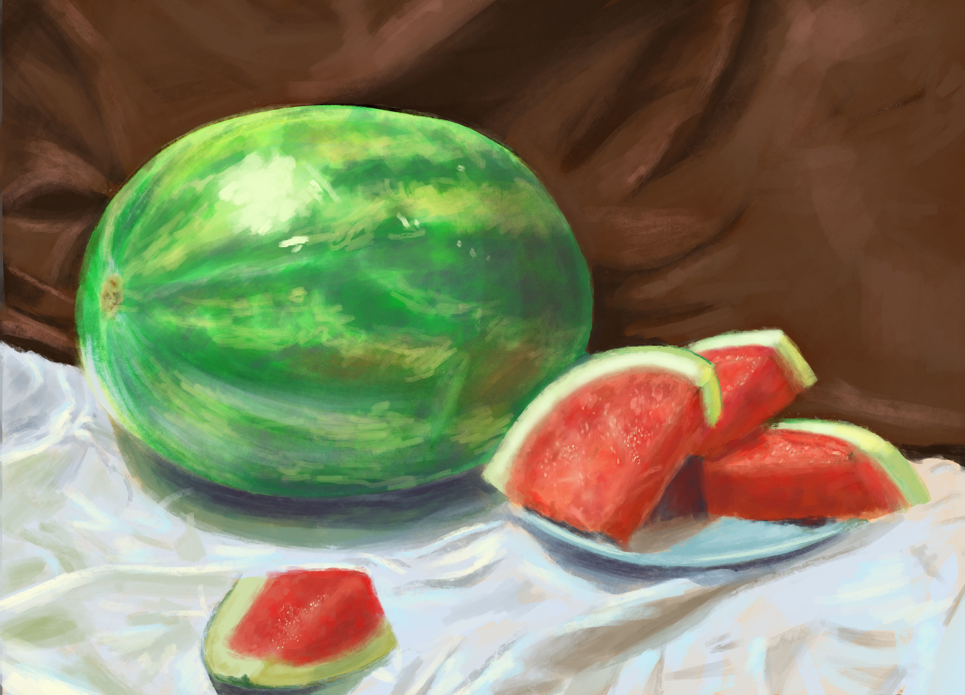 Mary madewell watermelon still life