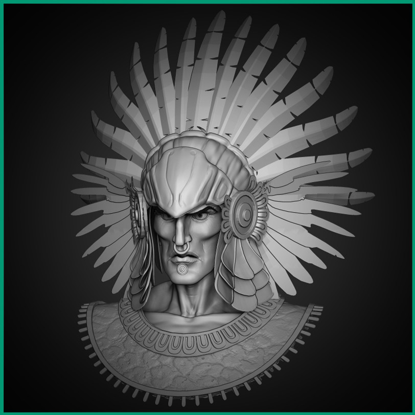 Cristo Alarcon Guerrero Azteca Aztec Warrior Project
