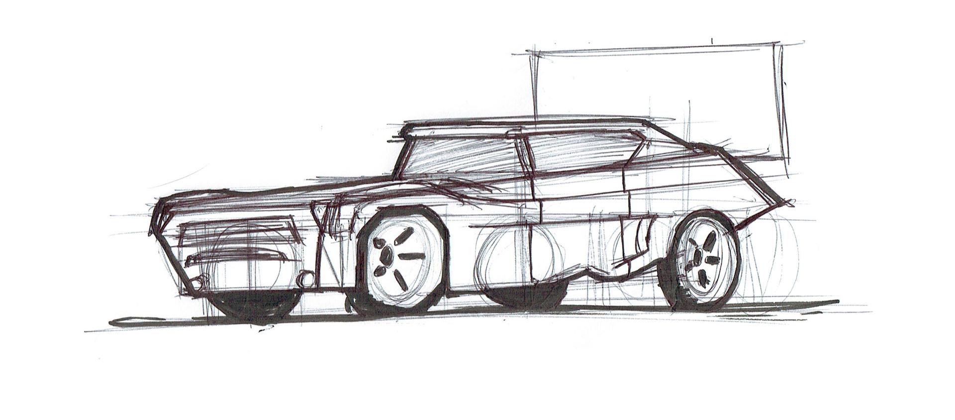 Luke Hughes - Car Sketches